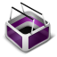 Cart purple icon