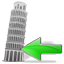 Tower of Pisa Back Icon