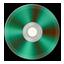 Green Metallic CD icon