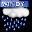 Windy rain