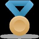 Metal bronze blue-128