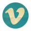 Retro Vimeo Rounded icon