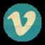 Retro Vimeo Rounded-64