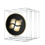 Windows Media Center Black and Gold icon