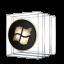 Windows Media Center Black and Gold Icon