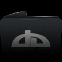 Folder black deviantart-128