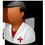 Nurse Male Dark icon