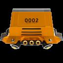 space racing car rear orange