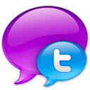Small Twitter Logo in Blue-128