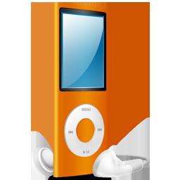 iPod Nano orange on