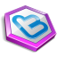 Purple shape twitter Icon