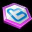 Purple shape twitter-64