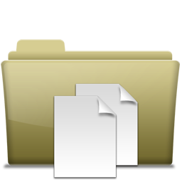 Folder Documents Brown