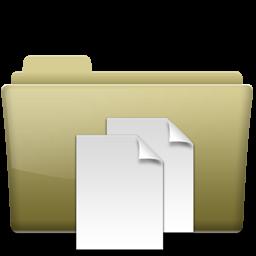 Folder Documents Brown