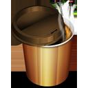 Hot Coffee Plastic Glass-128