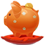 Piggybank orange icon
