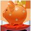 Piggybank orange Icon