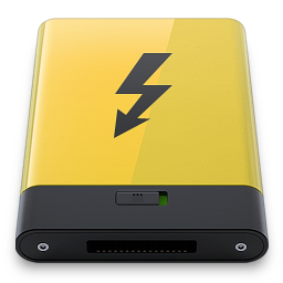 HDD Yellow Thunderbolt