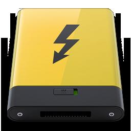 HDD Yellow Thunderbolt