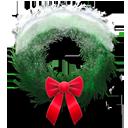 Holiday wreath snowy-128