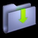 Downloads Blue Folder-128