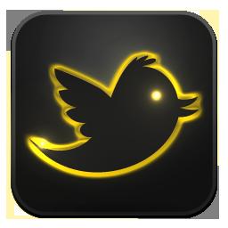 Twitter neon glow