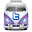 Twitter van purple icon