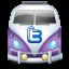 Twitter van purple-64