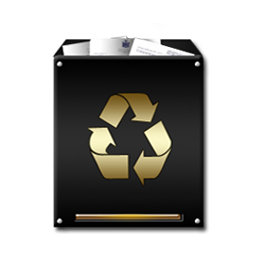 Trash Full Gold Icon Download Black And Gold Icons Iconspedia