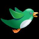 Twitter green birdie-128