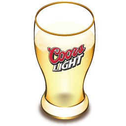 Coors beer glass