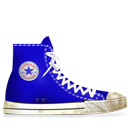 Converse Blue dirty-128
