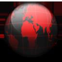 Globe black red-128