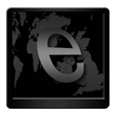 Black Internet Explorer-128