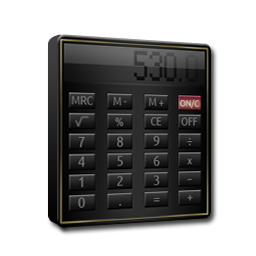 Calculator Black and Gold