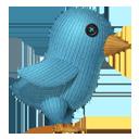 Knit Twitter Bird-128