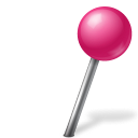 Map Marker Ball Right Pink-128