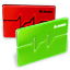 Red And Green 3D Charts icon