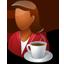 Person Coffeebreak Female Dark icon