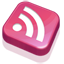 RSS Feed Pink Icon