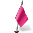 Map Marker Flag 2 Right Pink-128