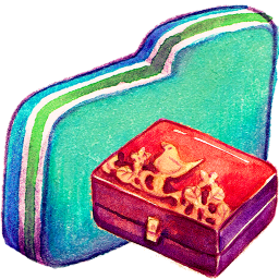 Personal Storage Green Folder