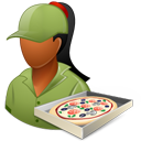 Pizzadeliveryman Female Dark-128