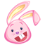 Pink Easter Bunny icon