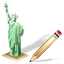 Statue of Liberty Write icon