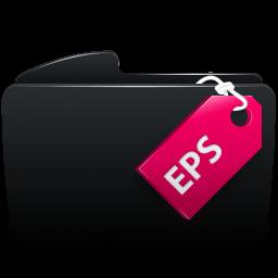 Folder black eps
