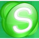 Skype green-128