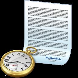 Document Clock Icon Download Junior Icons Iconspedia