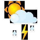 Sun littlecloud flash rain
