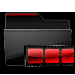 Folder Video black red